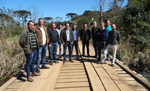 Empresas realizam visita técnica em Rio Palmeirinha, Cruz Machado