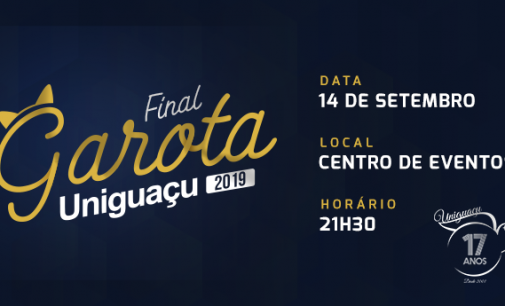 Garota Uniguaçu 2019 será escolhida nesta sexta-feira