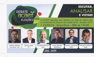Debate ao Governo de Santa Catarina da Acart e Colmeia