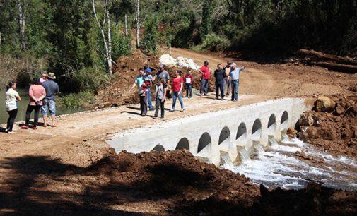 Bituruna inaugura nova ponte na comunidade Pitanguinha