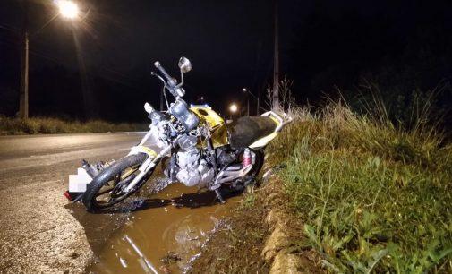 Grave acidente na BR 476 no acesso ao bairro Bom Jesus