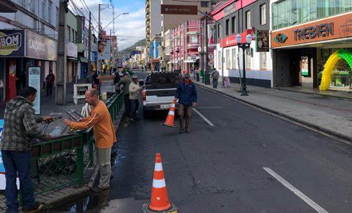 Obras na avenida Manoel Ribas recebe mais uma etapa
