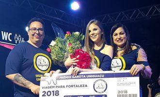 Poliana Braz de Oliveira é eleita Garota Uniguaçu 2019