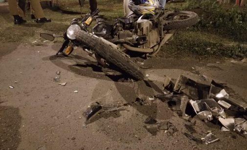 Mulher fica gravemente ferida em acidente de trânsito