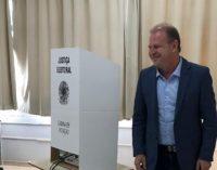 Merisio votou na manhã deste domingo, 28, em Chapecó