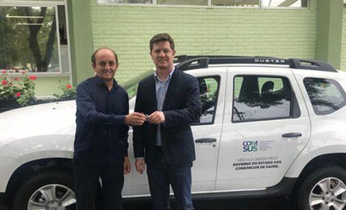 Cisvali recebe veículo da Secretaria de Saúde do Paraná