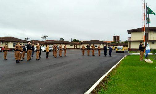 Soldados da Marinha do Brasil visitam 27ª BPM