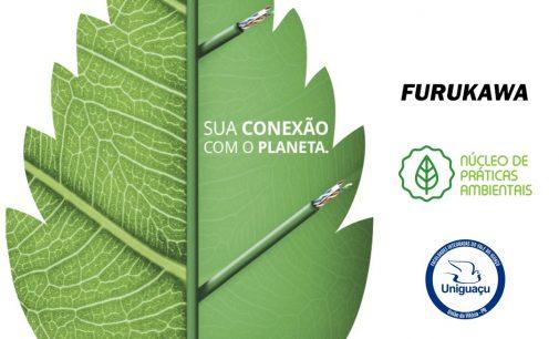 Uniguaçu e Furukawa iniciam parceria para descarte correto de cabos