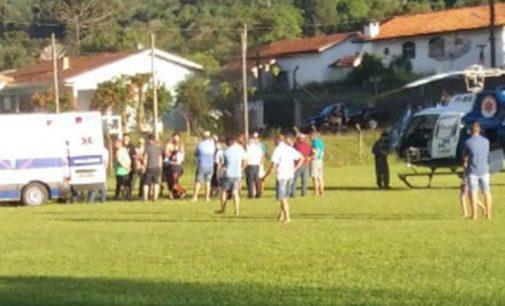Agricultor de Cruz Machado é levado de helicóptero para Ponta Grossa
