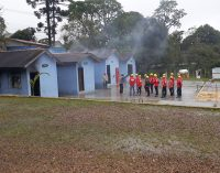 Brigadistas da Uniguaçu fazem aperfeiçoamento na Academia do Barro Preto