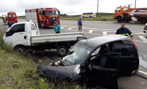 Acidente na BR 153 deixa um morto e dois feridos em General Carneiro