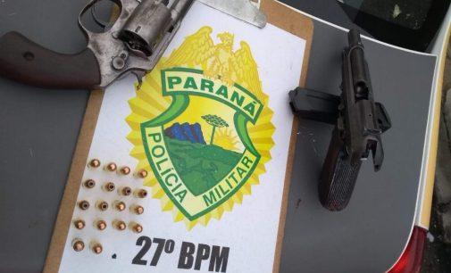 Dois homens são presos por porte de arma de fogo no Jardim Muzzolon