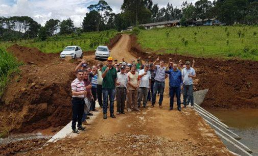 Prefeitura de Bituruna entrega 12ª ponte para interior