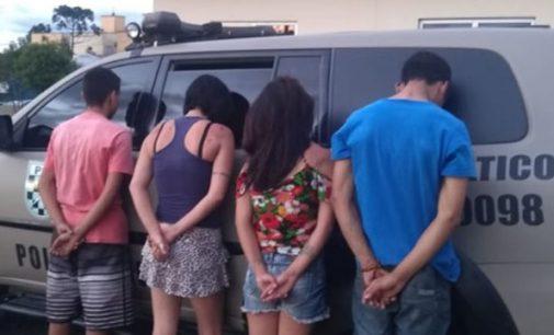 Quatro pessoas são detidas por furto em Porto União