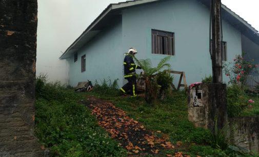 Residência em União da Vitória é incendiada