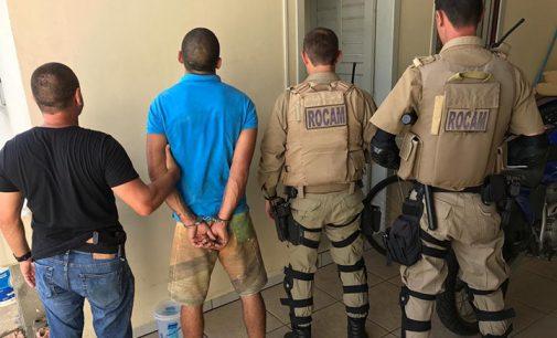 Foragido da Justiça é preso em ação da Policia Militar e Civil