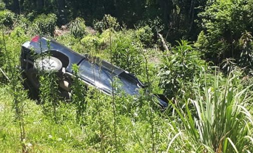 Motorista foge após veículo sair de pista na PR 447