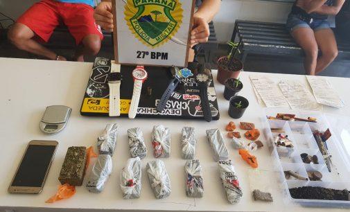PM fecha ponto de venda de drogas no bairro São Braz