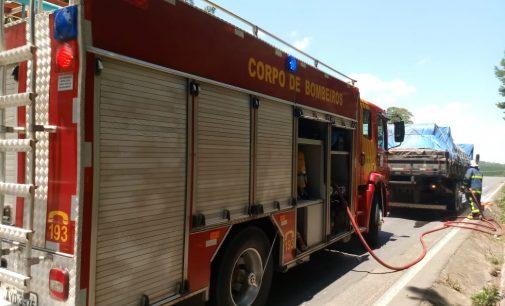 Princípio de incêndio em caminhão na BR 476