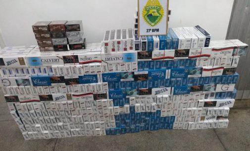 PM de União da Vitória prendem autor de contrabando de cigarros
