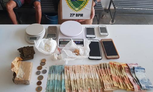 Policiais de UVA prendem casal por tráfico de drogas