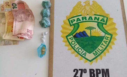 Casal é preso por tráfico de drogas na PR 446