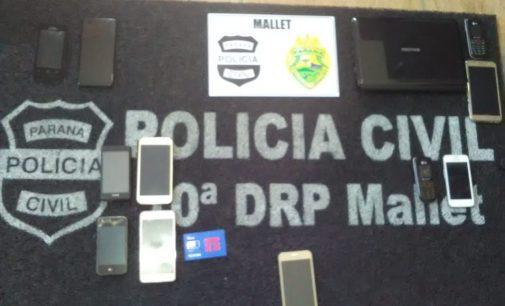 Policias de Mallet cumprem mandados de busca e apreensão