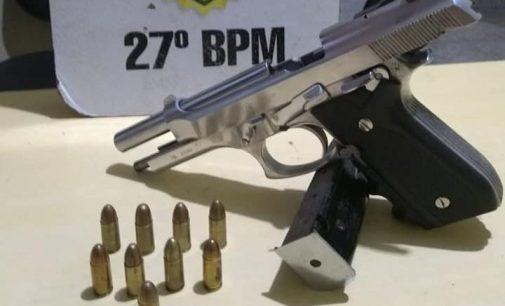 Policiais de General Carneiro apreendem arma de fogo