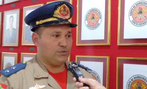 Marcos Colla recebe promoção como Capitão do CBMSC