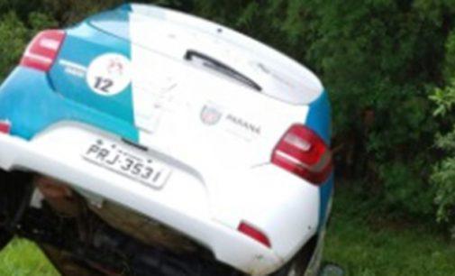 Veículo da Saúde de Bituruna se envolve em acidente na BR 476