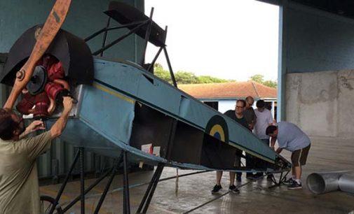 Réplica do avião de Ricardo Kirt já está sendo recuperado