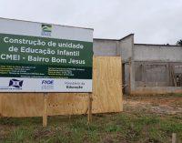 Retomada a obra do Centro de Educação Infantil do bairro Bom Jesus