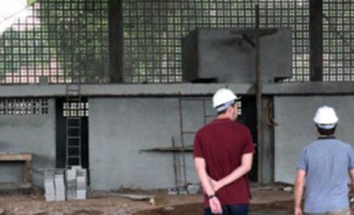 70% da obra da quadra esportiva da Escola Maridalva Palamar está pronta