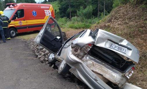 Uma pessoa fica ferida em acidente na BR 280 na Cachoeirinha