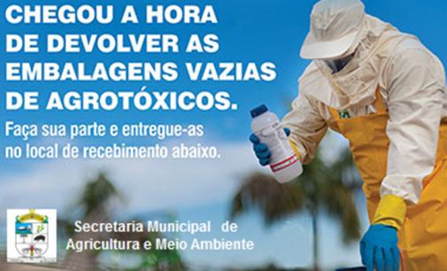 Recolhimento de embalagem de agrotóxicos em Cruz Machado