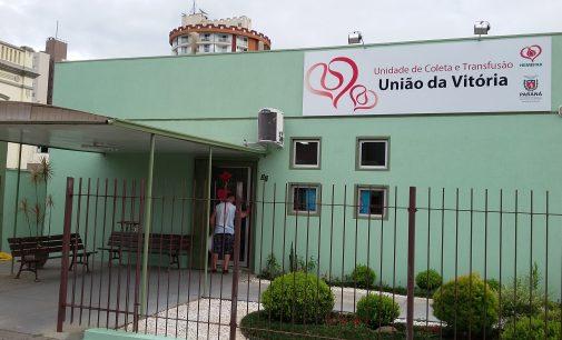 Banco de Sangue de União da Vitória tem horário modificados