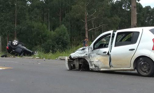 Acidente na BR 280 deixa cinco feridos em Porto União