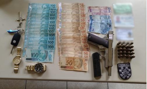 Rocam prende casal por porte ilegal de arma de fogo em Porto União