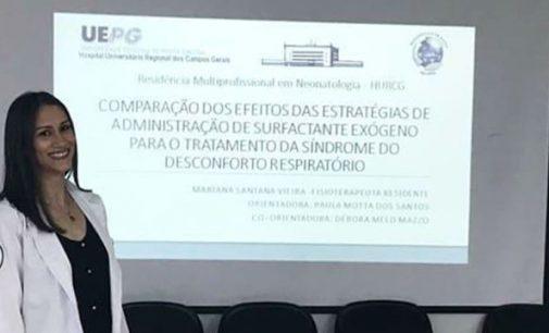 Egressa de Fisioterapia da Uniguaçu conclui Residência em Neonatologia na UEPG