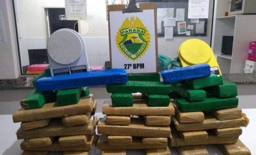 PM recebe denúncia e apreende 40 kg de droga