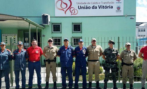 Bombeiros e Militares de UVA e PU realizam campanha de doação de sangue
