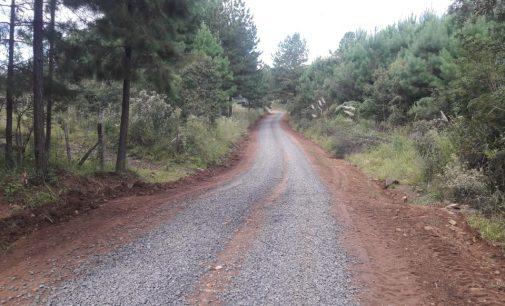 Estrada do Cerro do Galo em Matos Costa recebe melhorias