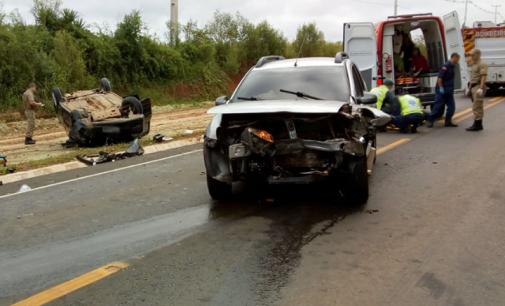 Cinco pessoas ficaram feridas em acidente de trânsito em Irineópolis