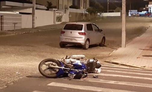 Acidente deixa motociclista ferida em Porto União