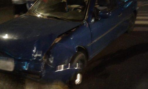 PM registra acidente no centro de União da Vitória