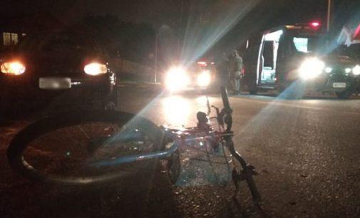 Ciclista é atropelada no bairro São Pedro em Porto União