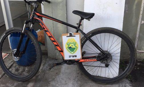 Bicicleta furtada é recuperada no centro de União da Vitória