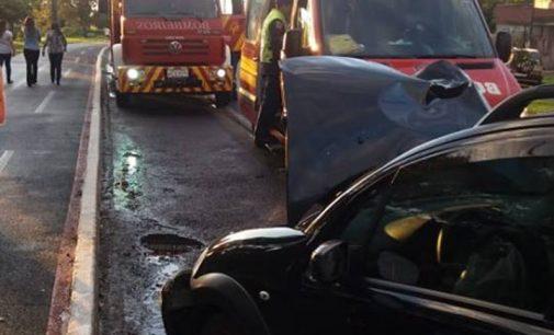 Acidente de trânsito em Porto União deixa duas mulheres feridas