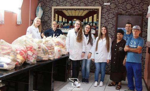 Uniguaçu entrega mais de três toneladas de alimentos a entidades sociais