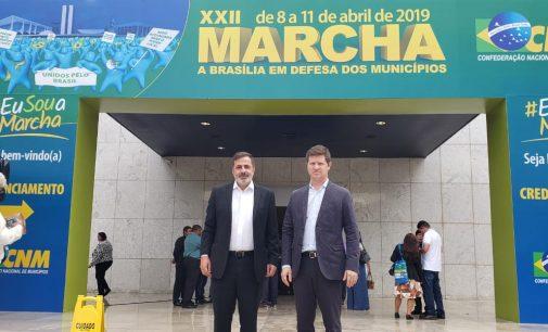 Santin e Bachir participam da Marcha dos Prefeitos em Brasília